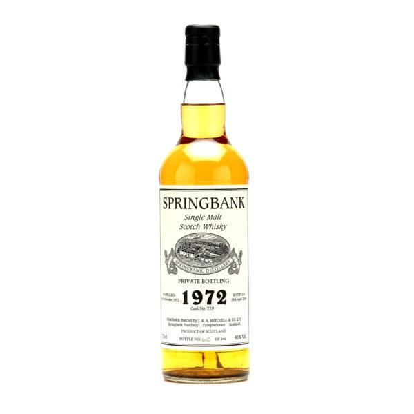 Springbank Single Malt Scotch Whisky 1972