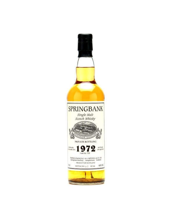 Springbank Single Malt Scotch Whisky 1972