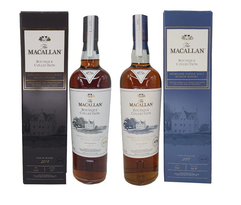 Macallan Boutique Collection Single Malt Whisky Bottles
