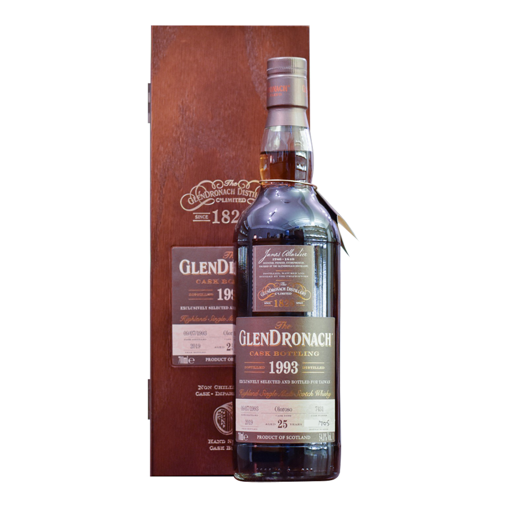 Glendronach 25 Year Old 1993 Taiwan Exclusive Cask# 7431