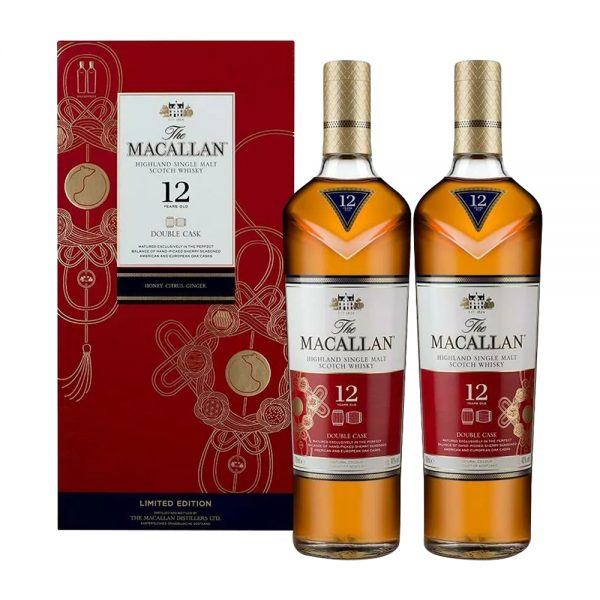 Macallan 12 Year Old Double Cask Year of the Ox (2 Bottle Set)